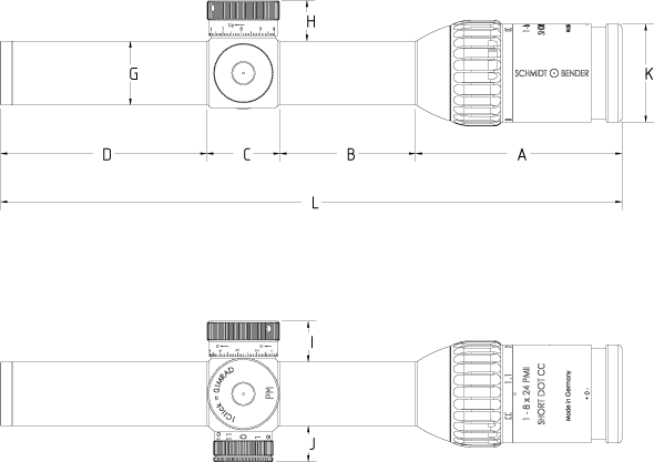 tz 1 8x24 PM II ShortDot CC 590