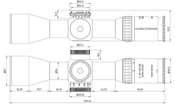 5-20x56 PM II Ultra Short