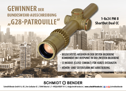 Winner of the German Armed Forces tender 1-8x24 PM II ShortDot Dual CC with its advantages